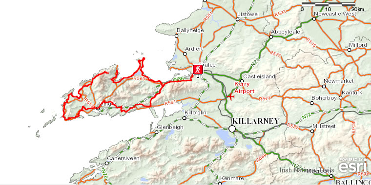 Dingle Map Of Ireland.Walking Holidays In Ireland Short Stop Tour Dingle To Dingle 8 Day